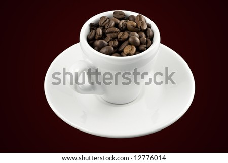 Classic white espresso cup with clipping path - stock photo