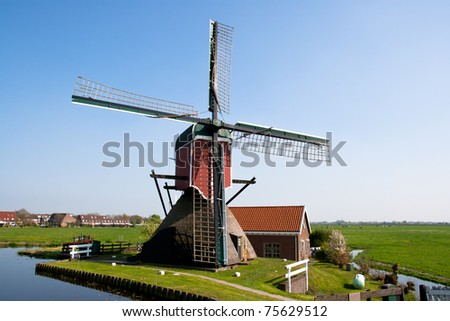Classic windmill in Holland