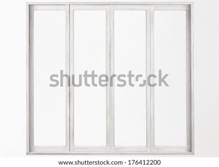 Classic window frame - stock photo