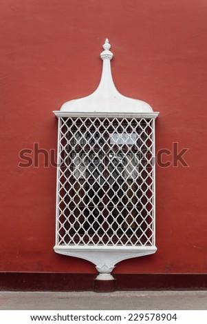 Classic window of Trujillo, Peru. - stock photo