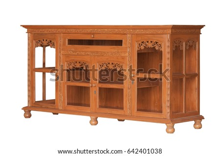 Classic Wooden Cabinet Stock   - Shutterstock