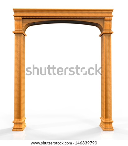 Classic wooden arch - stock photo