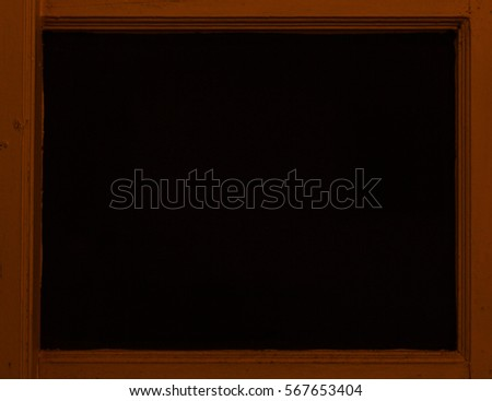 Classic wooden frame isolated on black background