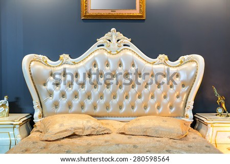 Classical bed - stock photo