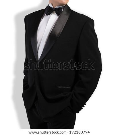 Classical Black Tuxedo - stock photo