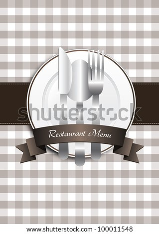 Classical brown restaurant menu design - stock photo