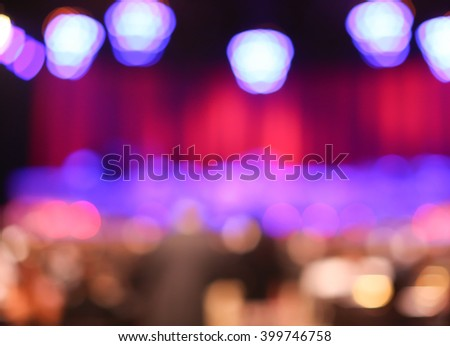 Classical concert blur background - stock photo
