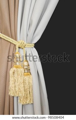 classical curtain tassel - stock photo
