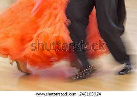 Classical dance competition, detail - stock photo