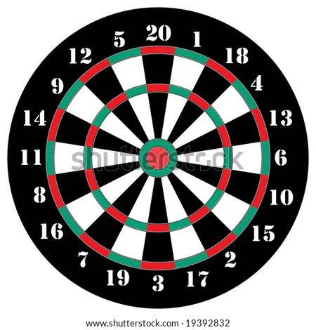 Classical darts with sectors and figures