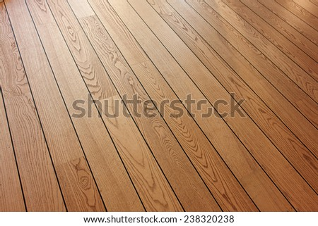 Classical design beautiful wooden parquet in an angle view                                - stock photo