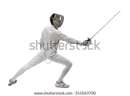Classical Fencing  - stock photo