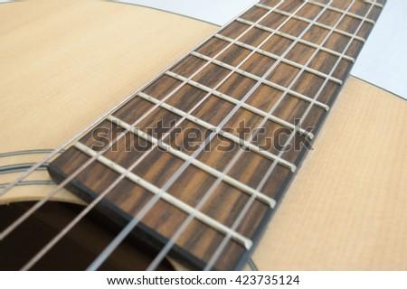 classical guitar close up - stock photo