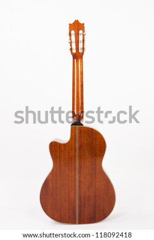 classical guitar/isolated - stock photo