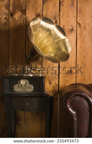Classical interior with gramophone