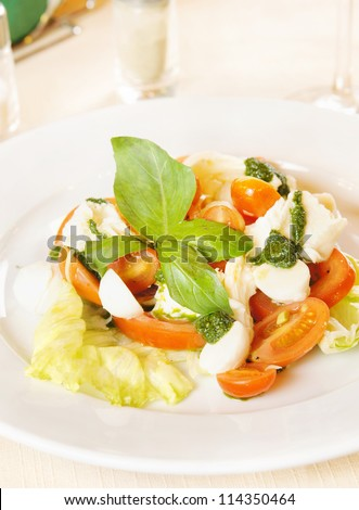 Classical Italian salad made of fresh vegetables