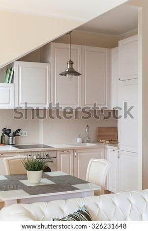 Classical kitchen interior design - stock photo
