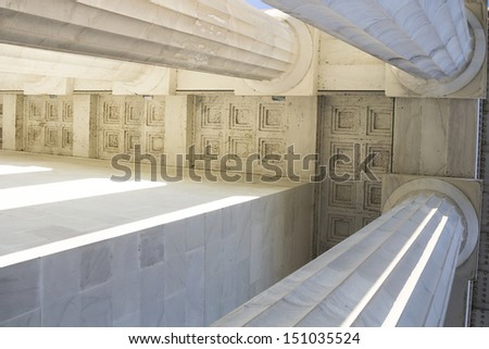 Classical marble columns - stock photo