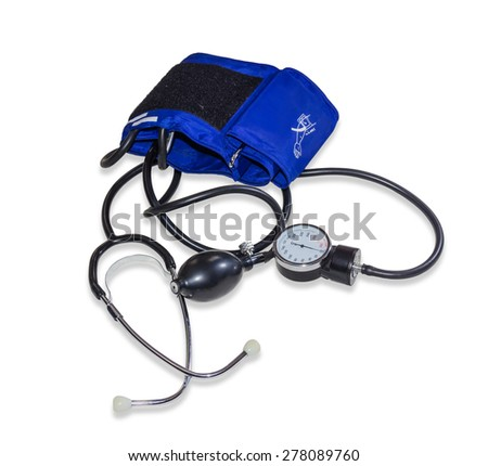 Classical mechanical sphygmomanometers on a light background. Isolation.  - stock photo