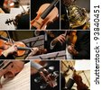 classical music collage - stock
