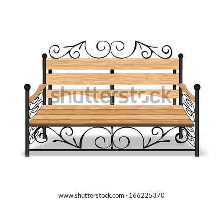 Classical park bench - stock photo