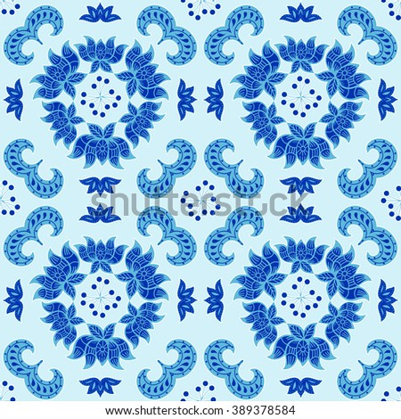 classical pattern, abstract seamless texture, art illustration - stock photo