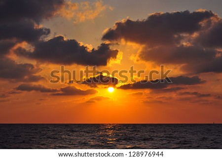 classical picture of sunset