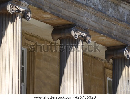 Classical Style Column Architecture - stock photo