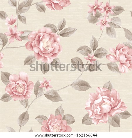 Classical style pattern seamless background  - stock photo