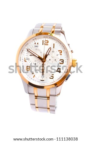 Classical swiss watch with chronograph - stock photo