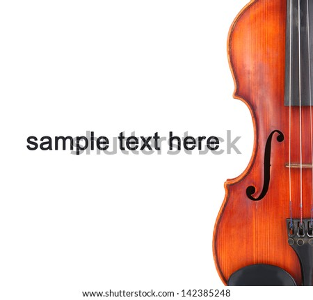 Classical violin isolated on white - stock photo