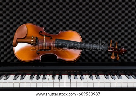 classical violin on piano
