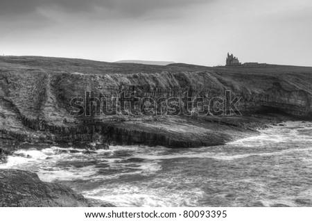Classiebawn castle on the coasline of Co. Sligo - Ireland - stock photo
