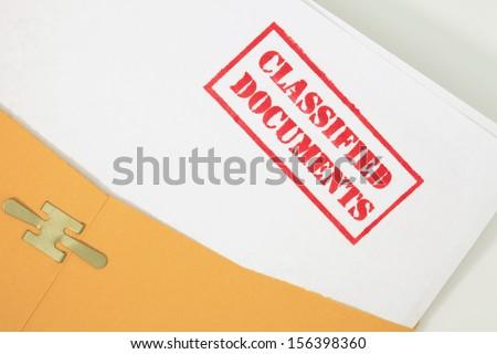 Classified Documents Folder - stock photo