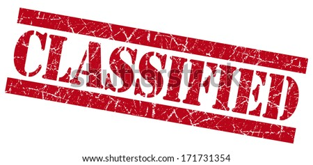 Classified grunge red stamp - stock photo