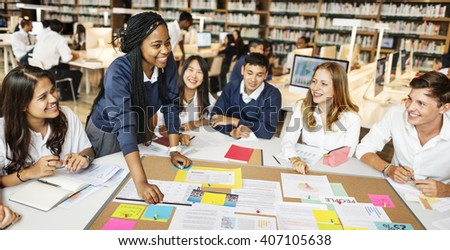 Classmate People Global Community Insight Concept - stock photo
