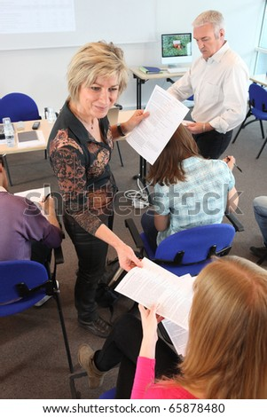 Classroom - stock photo