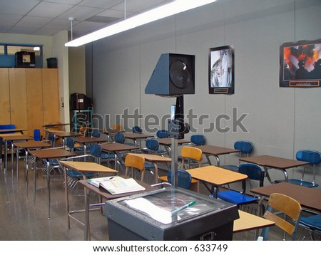 Classroom Desks and Overhead