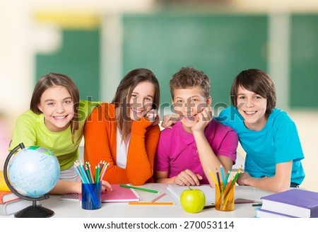 Classroom, group, youngster.