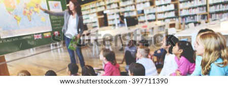 Classroom Learning Geography Students Study Concept - stock photo