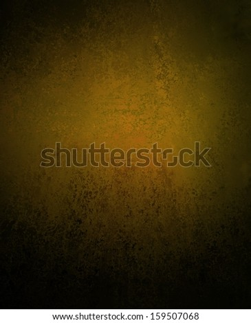 classy dull gold background with black vignette border and vintage grunge background texture, sponge distressed detail for great graphic art image on brochure or web backgrounds - stock photo