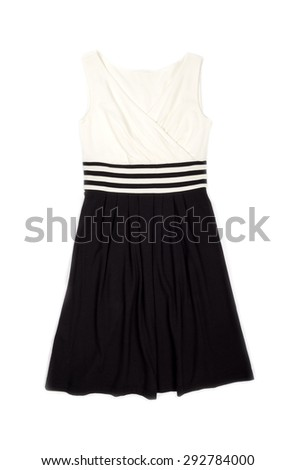 Classy Flare Dress Isolated on White - stock photo