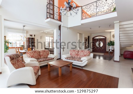 Classy house - living room and original mezzanine