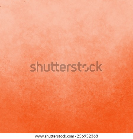 classy light orange background with pastel top border and gradient color to dark bottom border, old distressed vintage peach orange background with faded white color and vintage grunge texture - stock photo