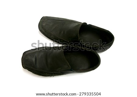 Classy male business shoes - stock photo