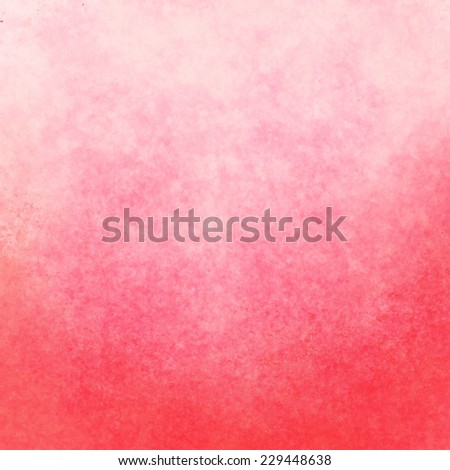 classy pink background with white pastel top border and gradient color to dark pink border, old distressed vintage salmon pink background with faded white color and vintage grunge texture - stock photo