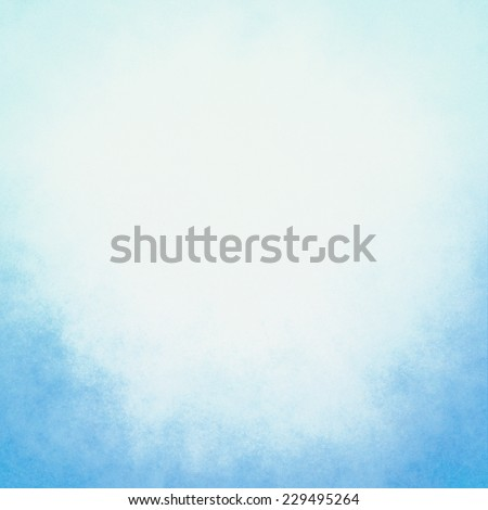 classy sky blue background with pastel top border and gradient color to dark bottom border, old distressed vintage blue background with faded white color and vintage grunge texture - stock photo