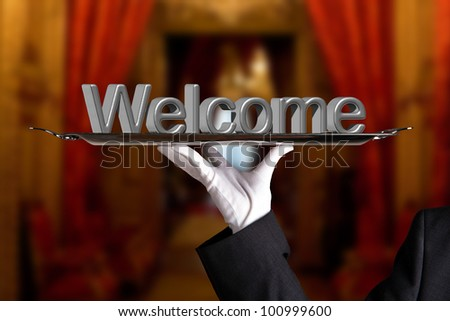 classy welcome - stock photo