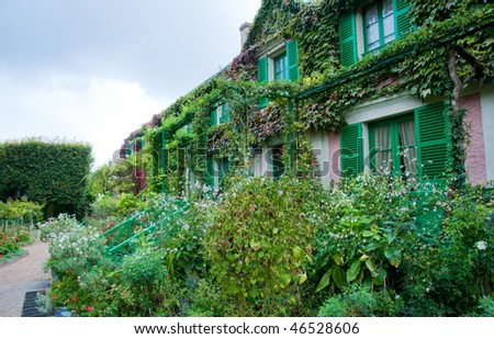 Claude Monet's garden and house in Giverny France - stock photo
