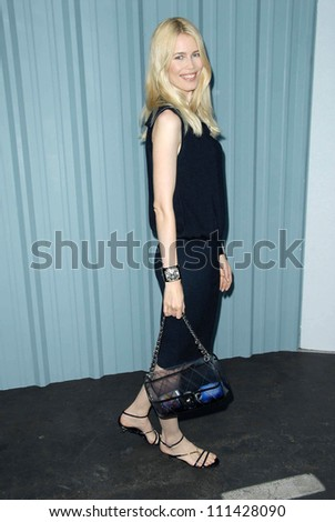 Claudia Schiffer at the 2007/2008 Chanel Cruise Show Presented by Karl Lagerfeld. Hanger 8, Santa Monica, CA. 05-18-07 - stock photo